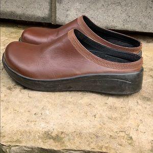 Birkenstock Tatami Brown Leather Clog Sz 39